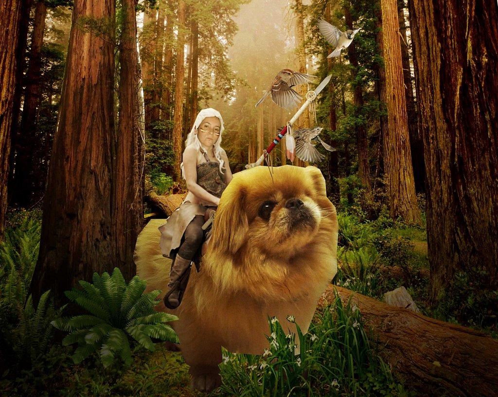 Christine and bear