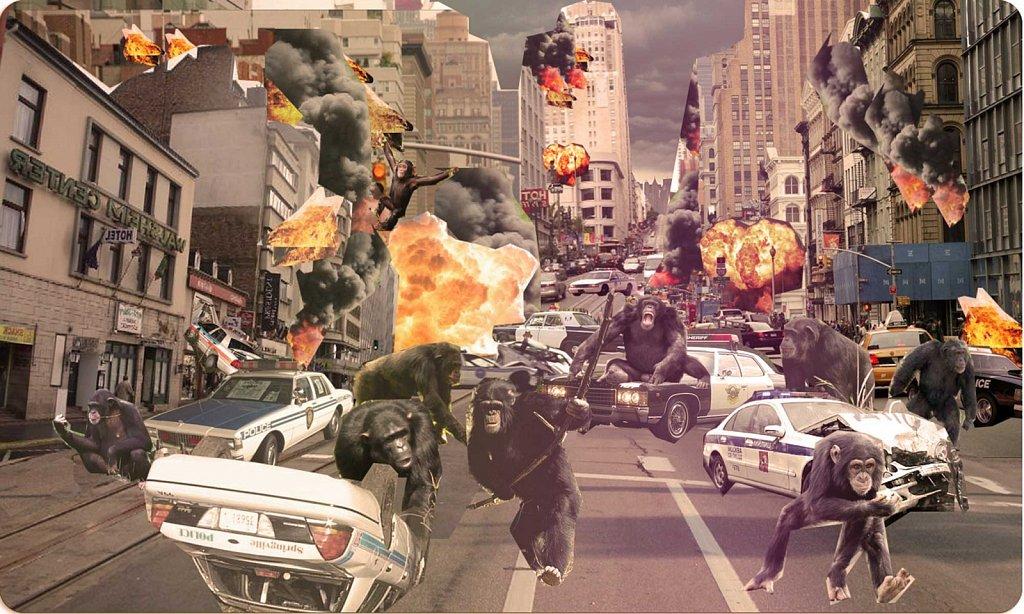 Ape riot