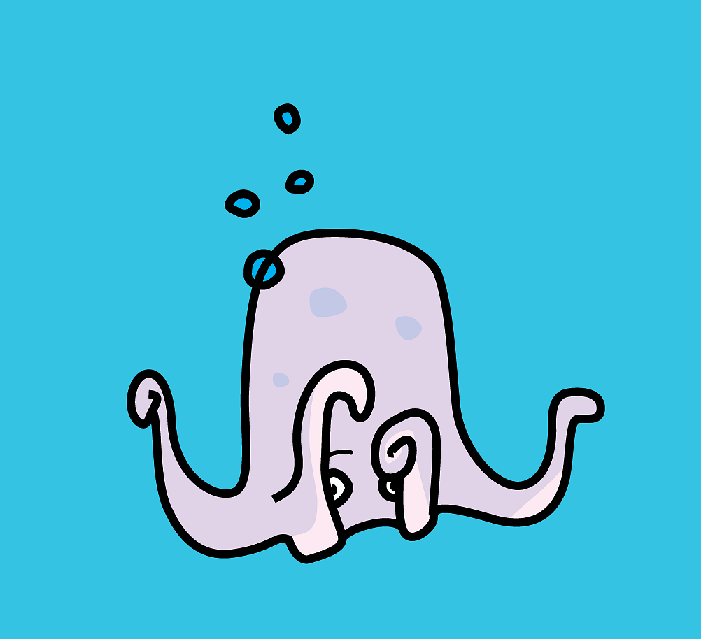 Shy Octopus